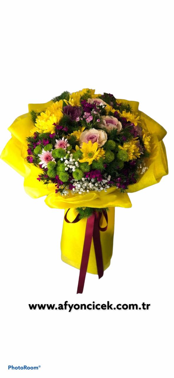 mevsim kır çiçeği buket,i